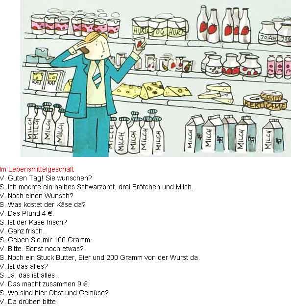 Тема по немецкому в магазине