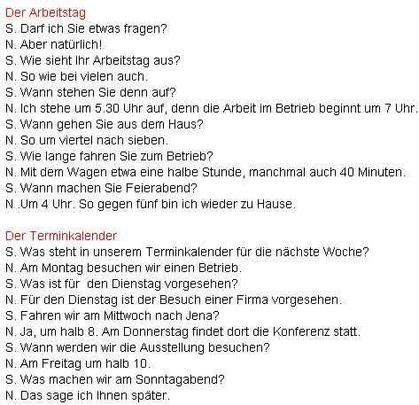диалог знакомства по немецки