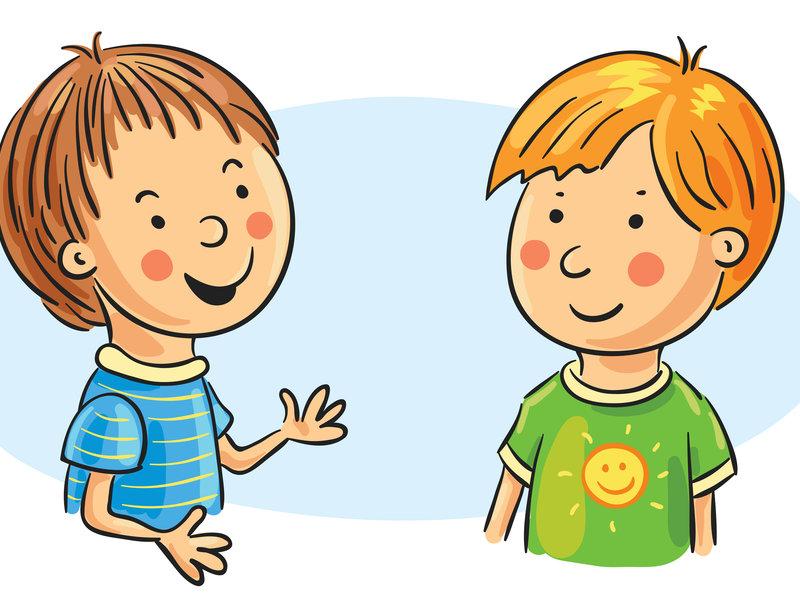 общение двух школьников