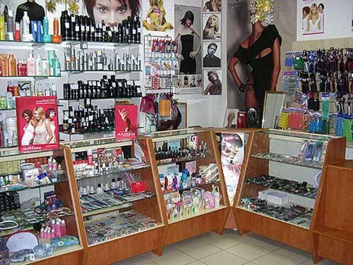 отдел косметики в немецком торговом центре