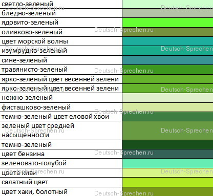 Цвет серо-зеленый как называется