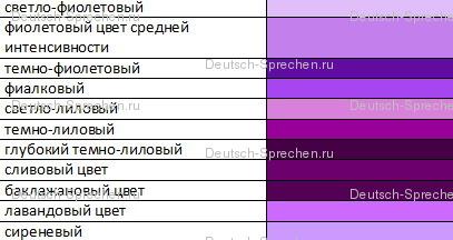 Пурпурно-фиолетовый цвет