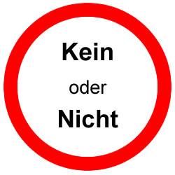 Выбор: kein или nicht