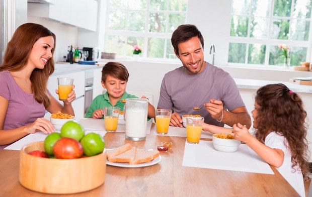 Завтрак с семьей