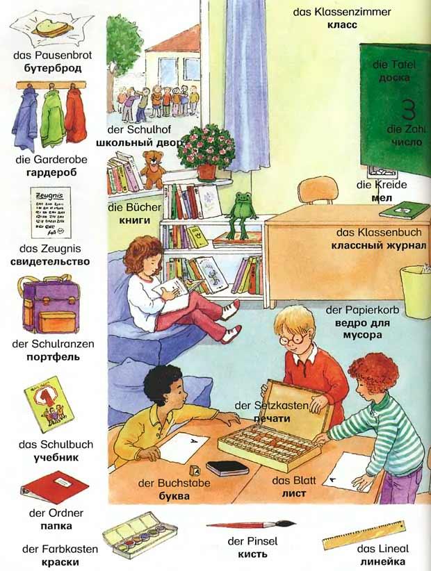 Интересные задания по теме школа на немецком языке