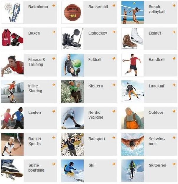 виды спорта на немецком языке с переводом
