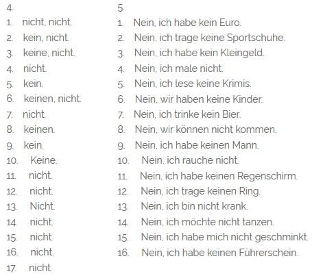 Как употребляется отрицание в немецком