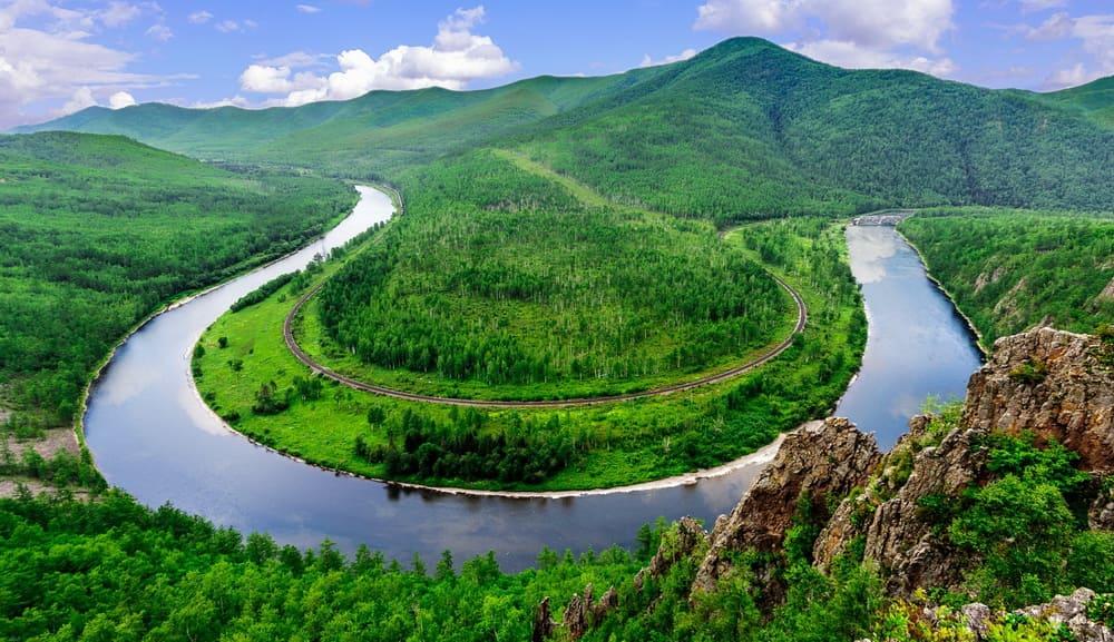 Амур река на Дальнем Востоке