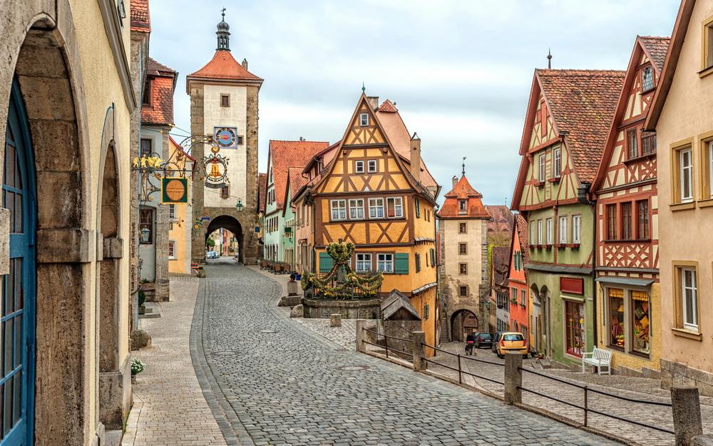 улицы в городке - Германия