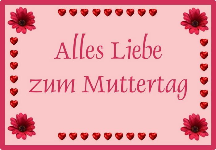 Немецкая открытка ко дню матери