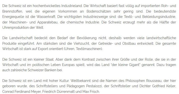 Die Industrie der Schweiz