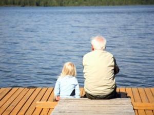 у реки с дедом