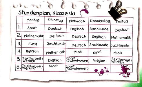 класс картинки 4 уроков немецком языке на расписание