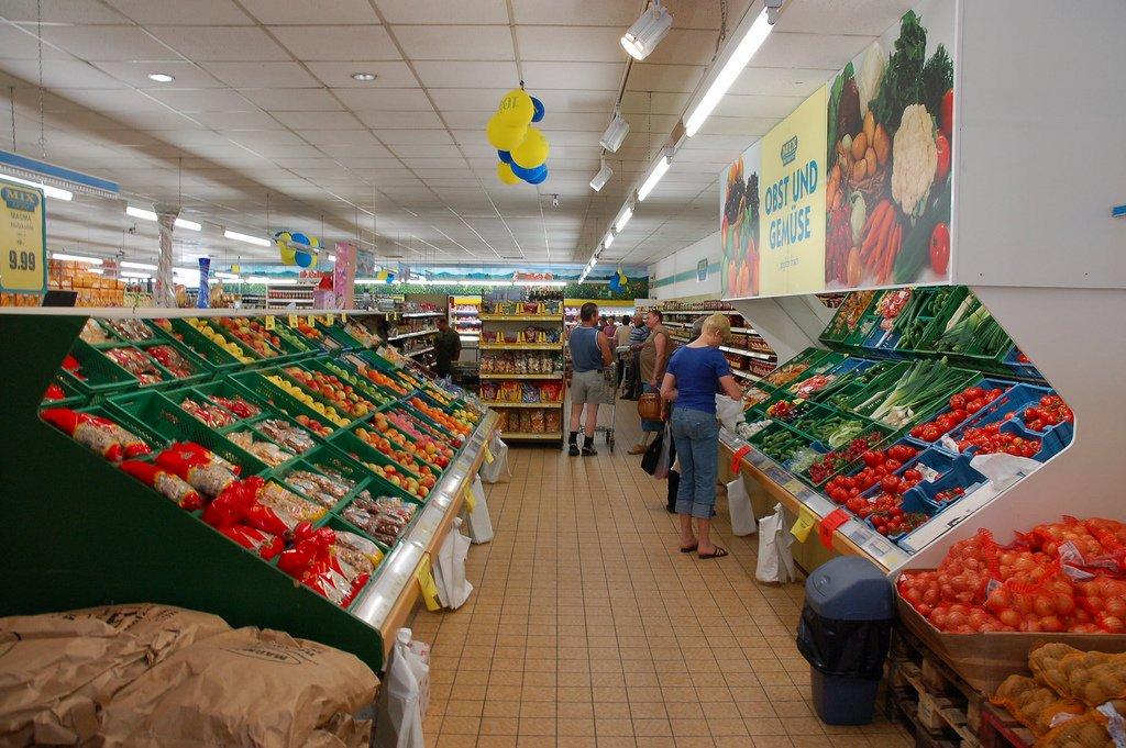 магазин продуктов в Германии