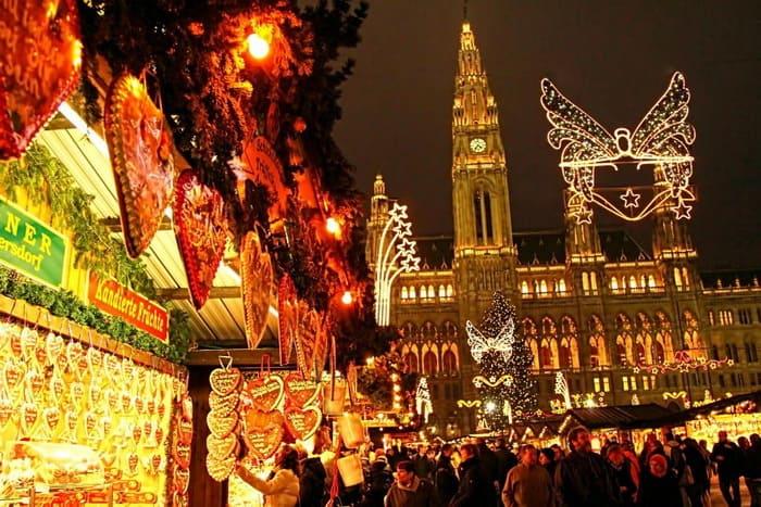 Австрия Вена перед новым годом