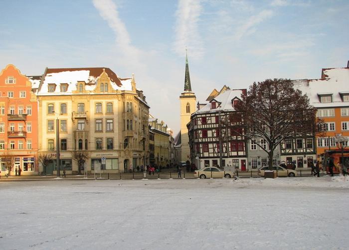 зима в Дрездене